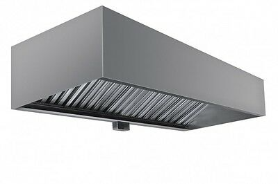Box Style Commercial Exhaust Hood 6 X 48 X 24h