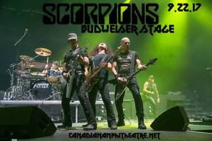 Scorpions and Megadeth Sep 22, 2017 - Two hard tickets