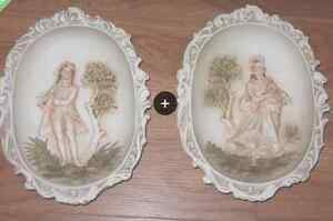 RELIEF PORCELAIN LEFTON CHINA WALL HANGERS