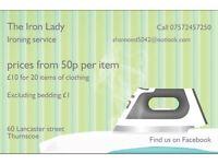 The Iron Lady- ironing service