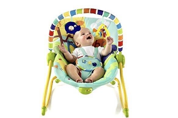 Brightstart baby rocker and toddler chair.