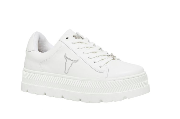 c0af0dfdf65 NEVER WORN WINDSOR SMITH KYLA WHITE LEATHER SNEAKERS (size10 ...