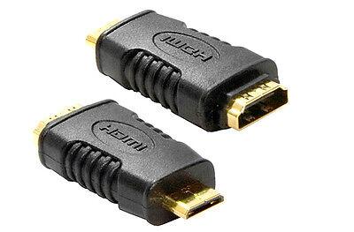 HDMI A Female to Mini C Male GOLD Adaptor Converter - SENT TODAY