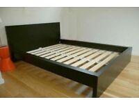 Ikea double bed Malm frame black