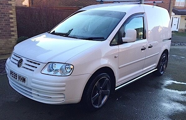 VW Caddy Van 1.9TDI white customised | in Hawkinge, Kent | Gumtree