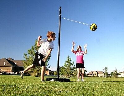 Lifetime Heavy Duty Portable Tetherball Pole Set Fill w/ Sand, Water NEW NO TAX