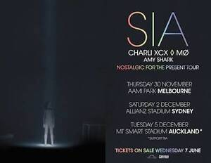 SIA - Bronze x 2 - 30 November - Melbourne @ AAMI Park Box Hill Whitehorse Area Preview