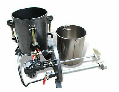 Enhanced Pressure Feed Paint Pot Tank Spray 8gal Paint Mixer Agitator Stirrer Us