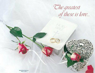 The Greatest of these is Love Wedding Bulletins - 100 sheets](Wedding Bulletins)