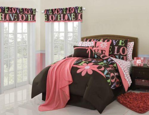 Pink Brown Twin Bedding Ebay