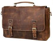 Mens Real Leather Messenger Bag