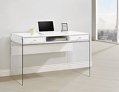 $174.65 - Coaster 800829 Home Furnishings Desk, Glossy White