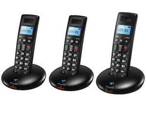 BT GRAPHITE 2100 TRIO DIGITAL CORDLESS TELEPHONE HOME PHONE / TRIPLE SET