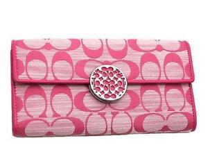 Coach Pink Signature Wallet