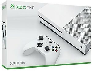 Microsoft XBOX ONE S 500GB White Video Game System - 1681