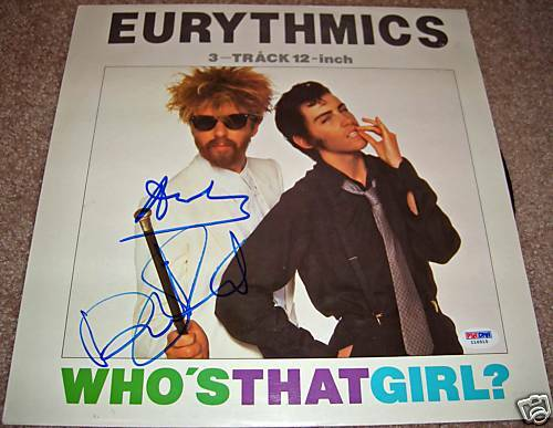 EURYTHMICS SIGNED RECORD (WHO
