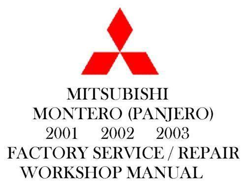 mitsubishi pajero service repair manual 2001 2003
