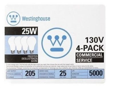 Westinghouse Commercial Service Frosted Light Bulb 25 W 205
