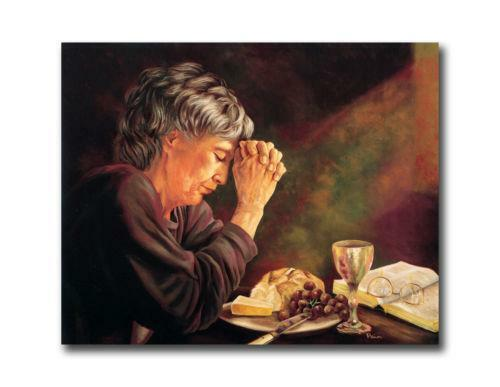 Old woman praying prints ebay