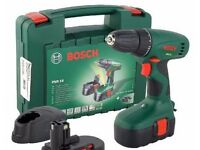 Bosch PSR 18 cordless electric drill good battery light domestic use.