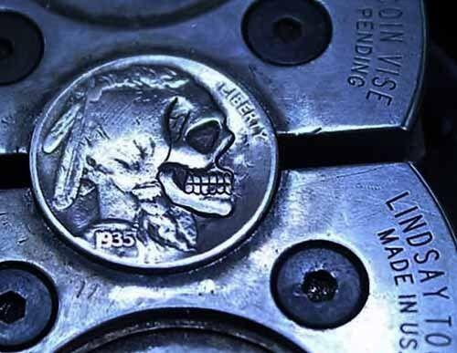 Coalburn classic Hobo Nickel  jewelry Love token OHNS buffalo skull