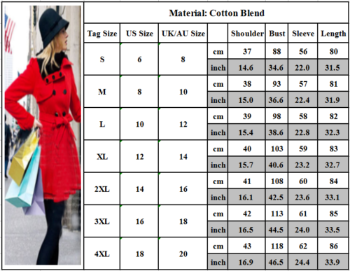 Women Thicken Fur Collared Winter Long Peacoat Coat Trench Outwear Jacket Dress 3