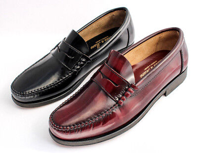 Herren Leder Schuhe Castellanos Penny Loafer Handmade Leather Shoes