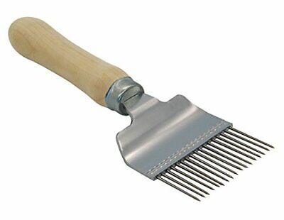 Pro/'sChoice Best Honeycomb Uncapping Stainles Needle Roller  With Wooden handle.