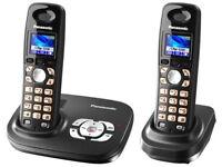 Panasonic KX-TG8022 Twin DECT Cordless Phone With Answering Machine