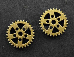 FREE-SHIPPING-8pcs-Antique-Brass-Steam-Punk-Gear-Bead-Charms-Pendants-PND-459