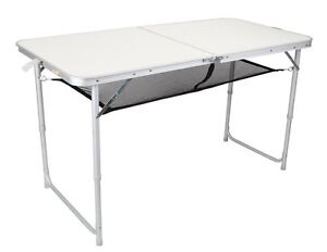 OZTRAIL FOLDING TABLE DOUBLE WITH STORAGE COOKING KITCHEN CAMP CAMPING