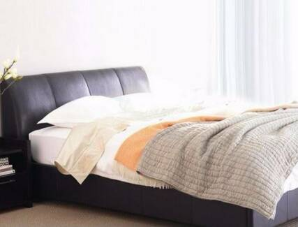 Freedom Faux leather Queen bed plus Matress for sale Lane Cove Lane Cove Area Preview
