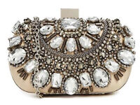 Brand new Gorgeous Beaded Box Clutch from Aldo