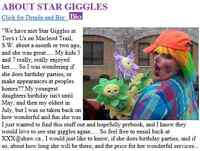 """Clown """"Star Giggles"""" specializes in making everyone laugh!"""