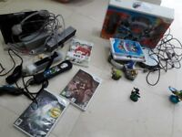 Nintendo Wii White Model No RVL-001(Eur) plus sky lander trap