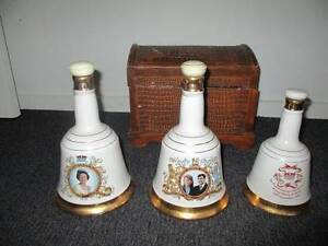 Old Bell's commemorative whisky bottles Southern Midlands Preview