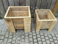 Best Quality chunky reclaimed wood planters £30 large £20 medium. Other sizes made to order. Redcar