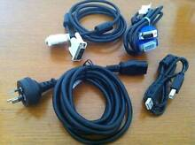Cables & Cords (Power, VGA, DVI, DSUB, USB, CAT5e, eSATA) Midland Swan Area Preview
