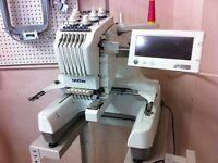 Pr600 brother embroidery machine start embroidery business