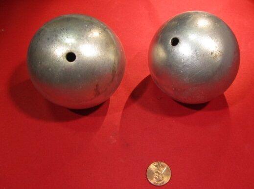 """Steel Hollow Sphere / Balls 2.0"""" Diameter, 2 Pieces"""