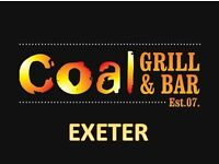 Coal Grill & Bar are looking for an enthusiastic Kitchen Porter!