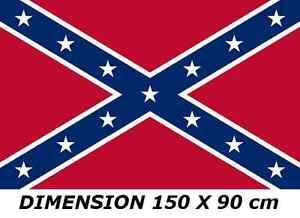 DRAPEAU-150-X-90-cm-SUDISTE-ETATS-UNIS-AMERICAIN-AMERIQUE-USA-FLAG-No-fanion