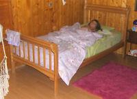 Lit pour enfant en bois d'érable - kid bed in mapple wood