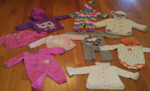 Baby Girl Clothes -Fall/Winter- (Size 6-9 months)