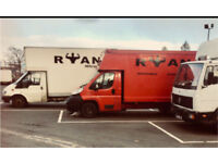 RYAN REMOVALS - SMALL - LARGE HOUSE - MOVES - LUTON VAN ' FLITN ' CARDROSS, DUMARTON, BALLOCH