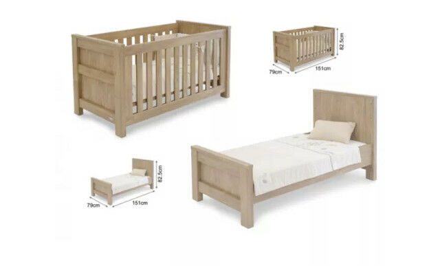 Babystyle By Charnwood 3 Piece Nursery Set Cot Bed Dressor Storage Box