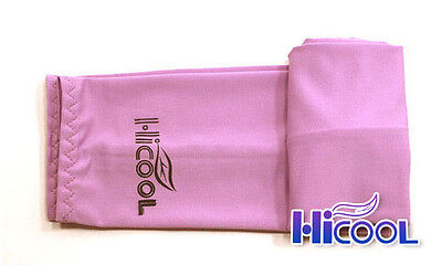 New High Cool 1Pair Arm Sleeves Cooling UV Sun Protect Golf Cycling Toshi Pink