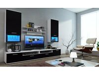 MODERN WALL UNIT LUMIA[],NEW, HIGH QUALITY TV UNIT 2X CABINET, HANGING SHELF MATT, Wardrobe