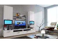 MODERN WALL UNIT LUMIA ./,NEW, HIGH QUALITY TV UNIT 2X CABINET, HANGING SHELF MATT, Wardrobe