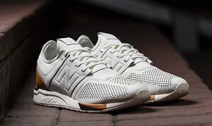 New Balance luxe white leather